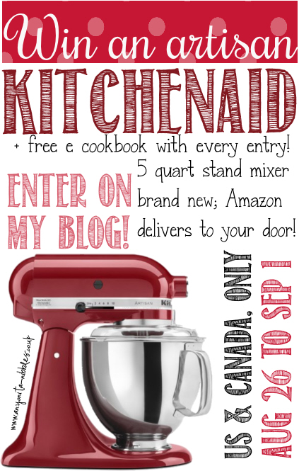 EPIC Giveaway!!  KitchenAid Artisan Stand Mixer and Free E-Book!