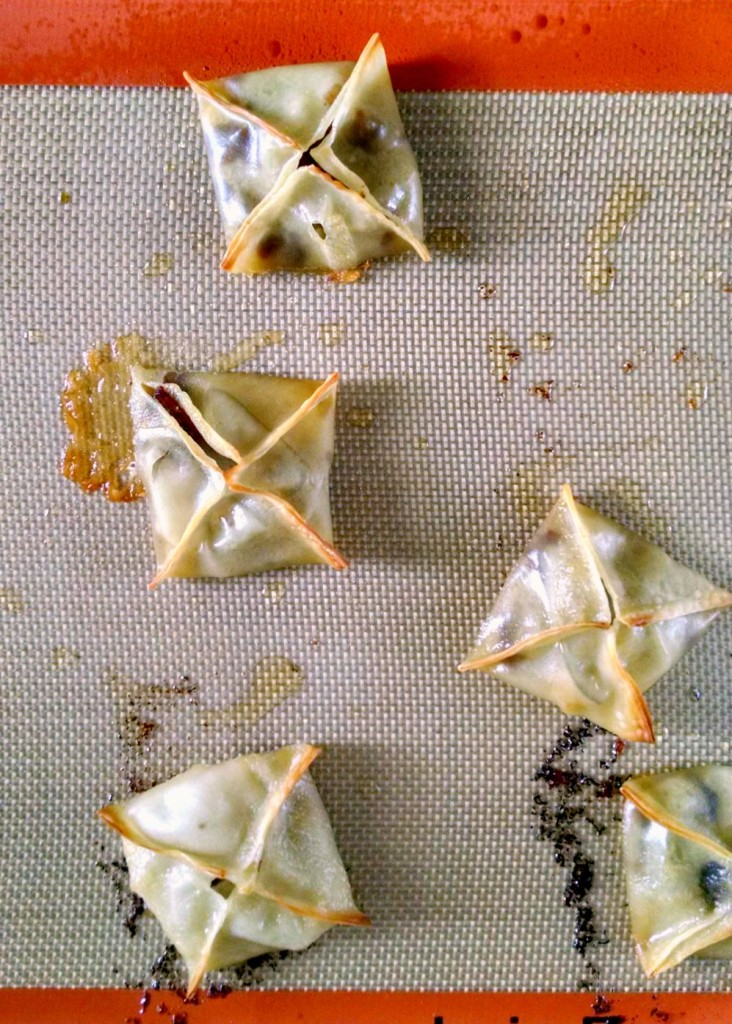 Delicious duck bacon is paired up with sweet pears and creamy brie in these glammed up baked wontons. Duck Bacon, Pear, and Brie Baked Wontons will wow your guests and please your taste buds.