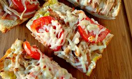 Cubano French Bread Pizza has all the delicious flavors of a Cubano sandwich but in a quick and easy French bread pizza form.
