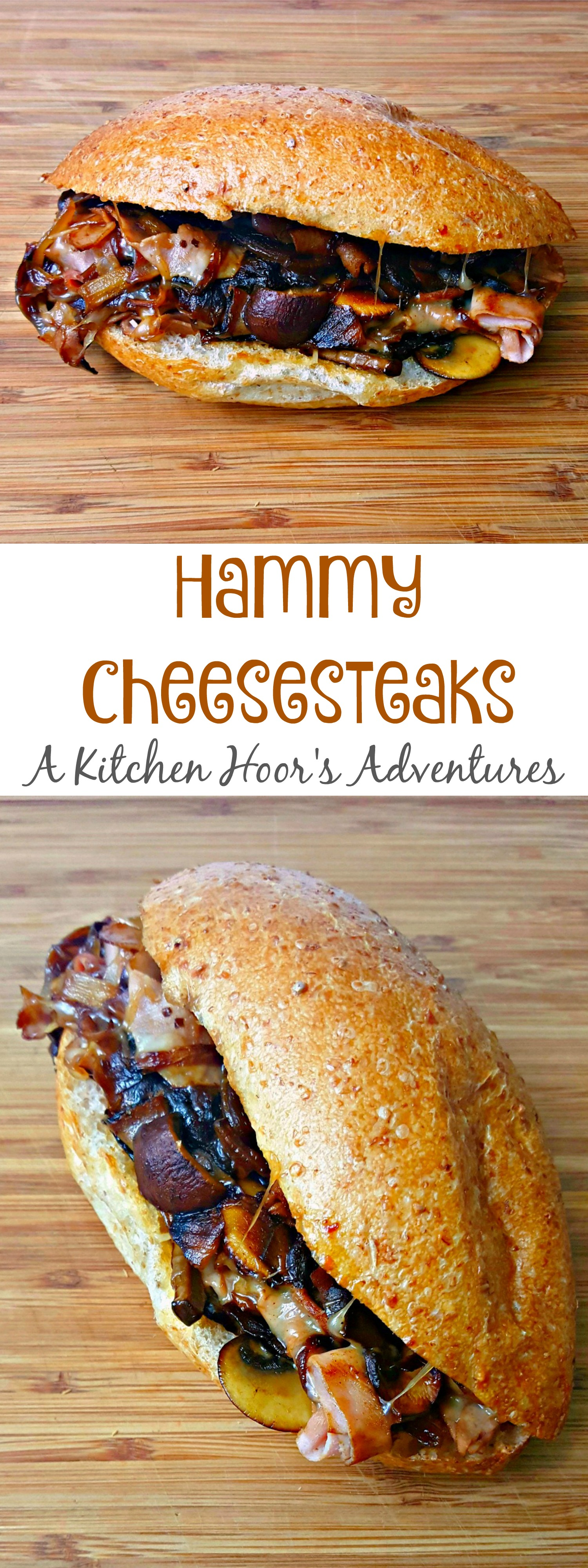 I married a ham and cheese and a cheesesteak together in these Not Your Average Ham and Cheese Sandwich aka Hammy Cheesesteaks; perfect for a take-out fake out meal or any night you're looking for something quick and easy.