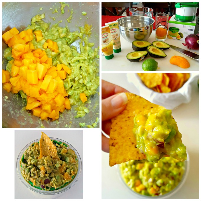 Creamy avocado, sweet mango, and spicy jalapeno make this Sweet and Spicy Mango Guacamole irresistable for #GuacSquad12.