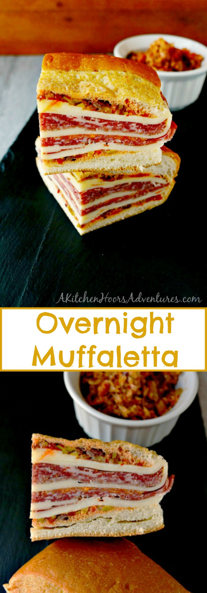 This is a muffalata you could easy make for a crowd or a picnic. Overnight Muffalata Sandwich is quick to make but tastes oh so delicious! Laissez les bons temps rouler!!
