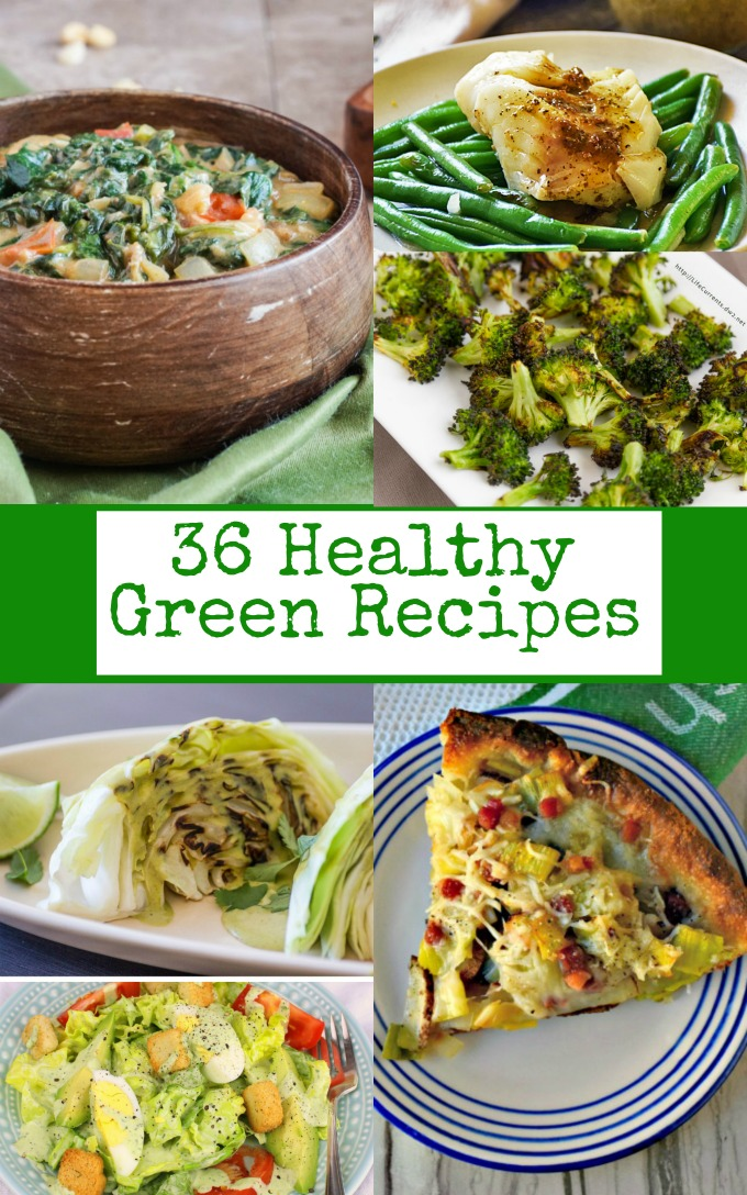Sharing some green for your plate! 36 Healthy Green Recipes to make your St. Patrick's Day just a little more green this year.