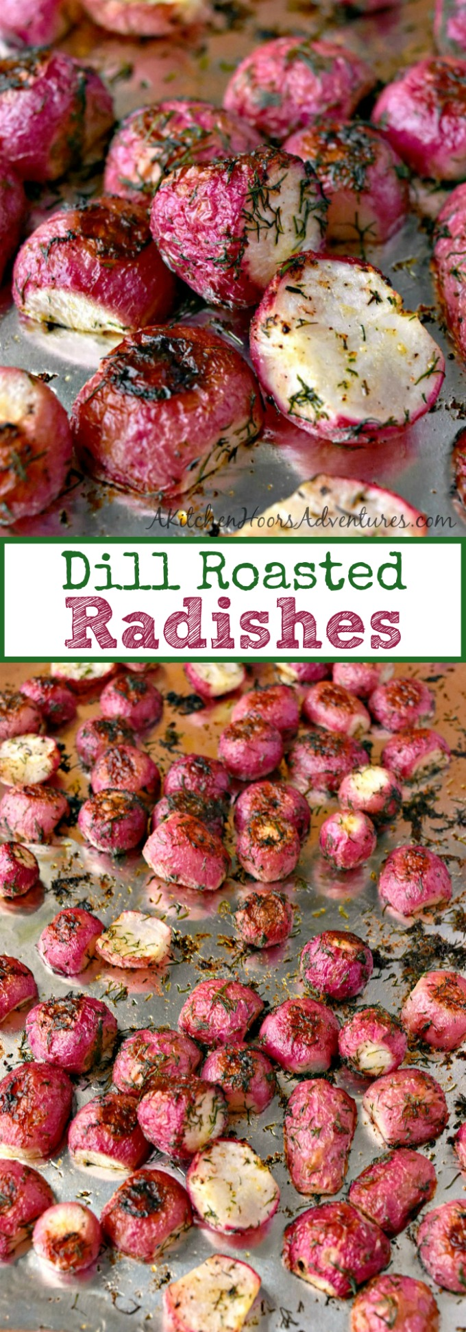 Roasting radishes changes their flavor completely!  If you haven't roasted radishes, then try these Dill Roasted Radishes for a different side dish.