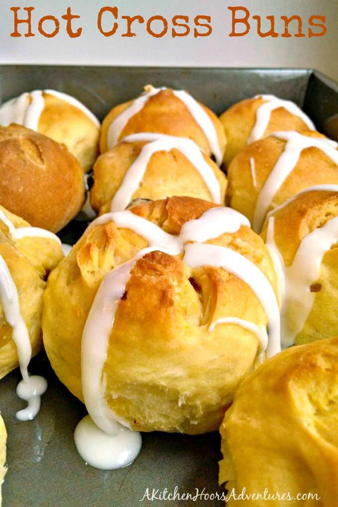 Hot Cross Buns were always a tradition at our Easter table. Mom made sure of it! I've taken a delicious, family favorite and lightened it up a bit. Not to worry! They're still delicious.