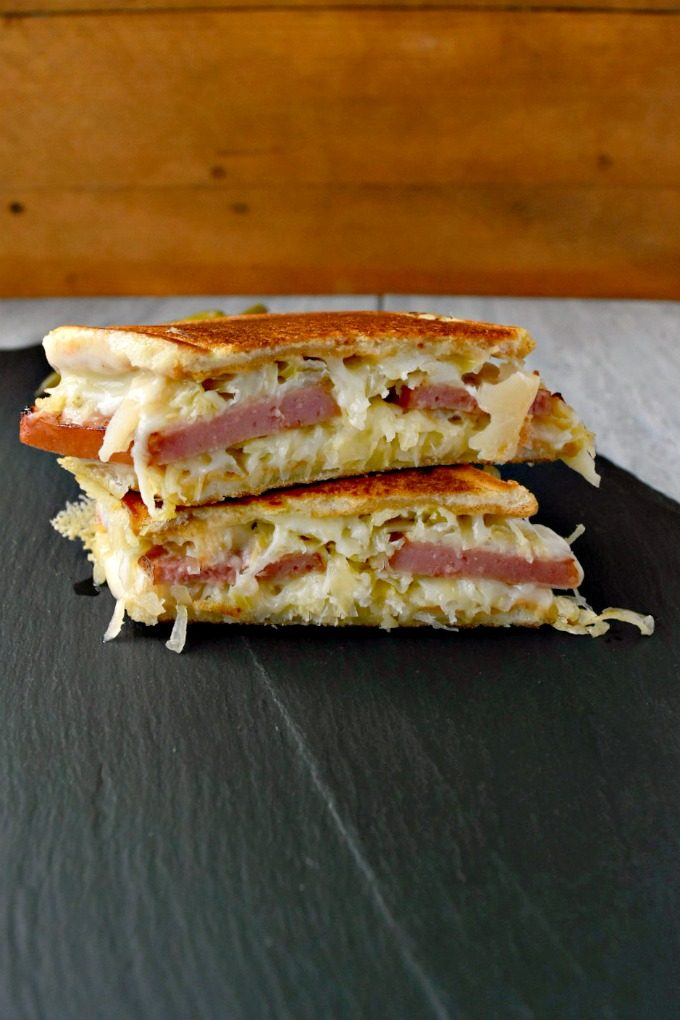 Swap out your corned beef for delicious kielbasa and you've got a different take on a classic. Polish Reuben Grilled Cheese is delicious and easy to make any day of the week.