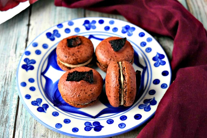 Beet and Goat Cheese Macaron