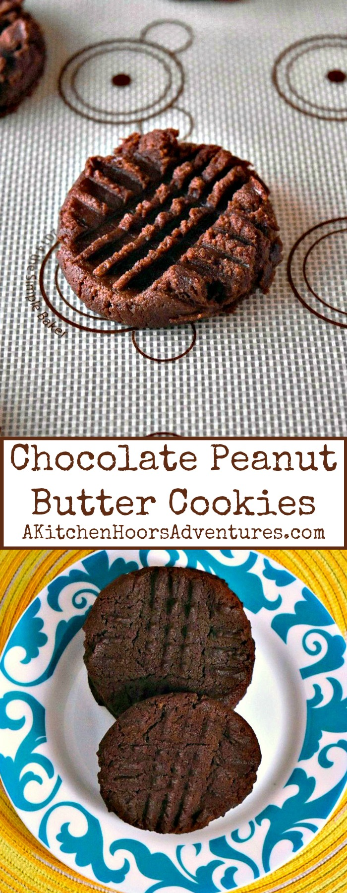 Rich cocoa powder is added to my favorite cookie recipe!  Chocolate Peanut Butter Cookies are so easy to make and a family favorite recipe they will ask for time and time again.