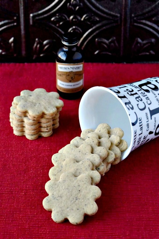 Coffee Shortbread Cookies #ChristmasCookies