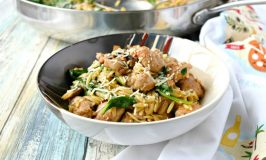 One Pot Italian Sausage Orzo with Spinach