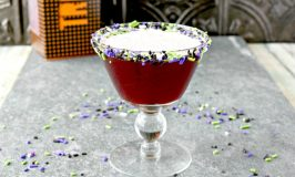 Cherry brandy is the star in this deliciously sweet cocktail.  Vampire Victim Cocktail sneaks up on you like a vampire.  You won't know what hits you until you've been bitten! #HalloweenRecipes