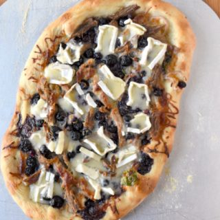 Blueberry Brie Duck Flatbread