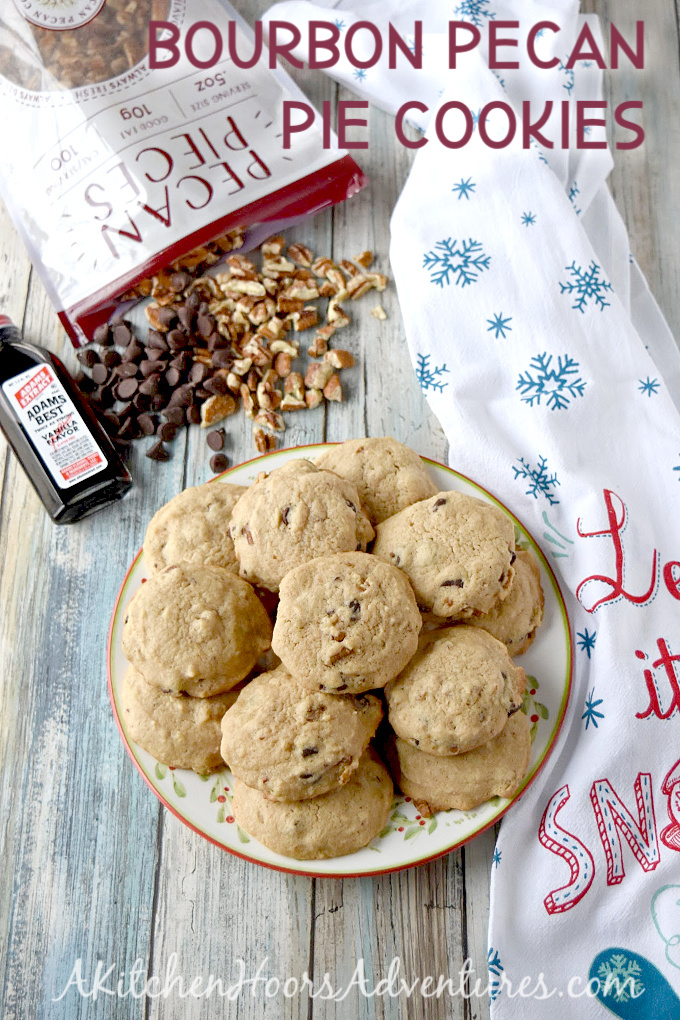 Bourbon Pecan Pie Cookies taste amazing. They taste just like our family Derby Pie recipe but with more delicious bourbon flavor. Nailed it! #ChristmasCookies