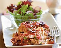 Chicken Thighs with Olives and Tomato Sauce