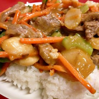 Spicy Carrot Ginger Stir Fried Beef