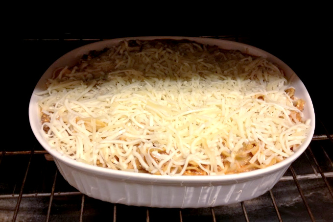I wanted lasagna but I was tired. So, I threw together a Mock-sagna. What's mock-sagna? Well, it's a wanna be lasagna, but without all the structure of real lasagna.