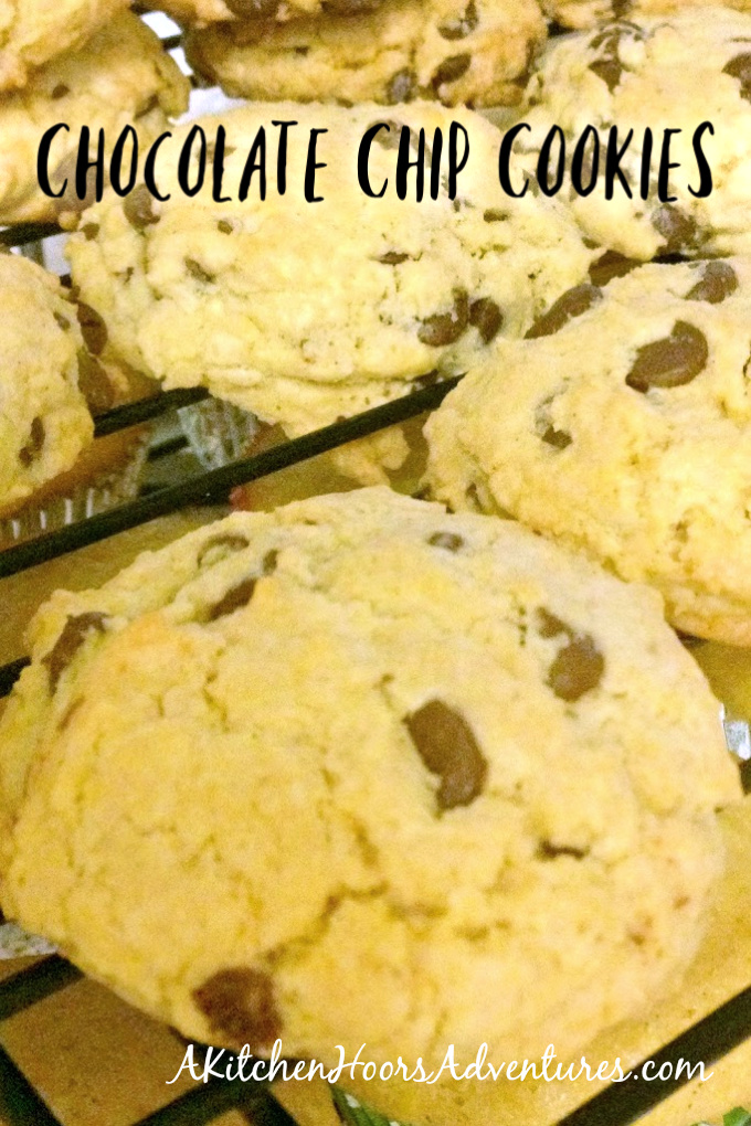 Chocolate Chip Cookies are crispy on the edges and chewy in the middle.  It's a family favorite recipe.