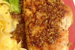 Pork Chops with Honey Mustard Pan Sauce