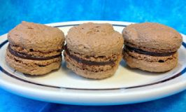 Hazelnut Chocolate Macaron with Dark Chocolate Raspberry Ganache – #GYCO Entry