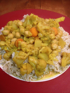 Curried Cauliflower and Chickepeas