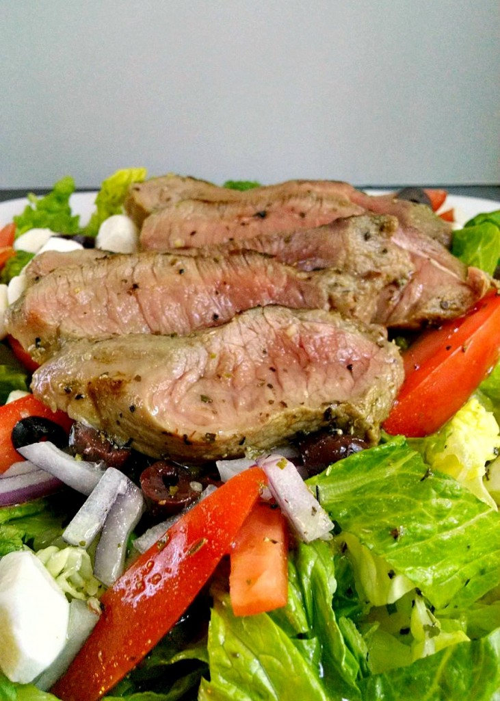 A Kitchen Hoor's Adventures | Steak Caprese Salad
