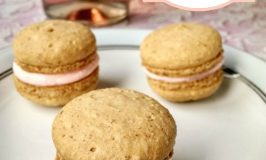 Strawberry Macaron with Pink Moscato Buttercream