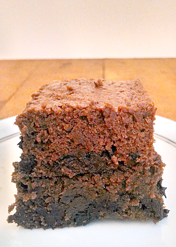Delicious chocolate chunks are baked into a lower fat brownie that's moist and delicious. These Low-fat Chocolate Chunk Brownies have all the flavor with less fat.