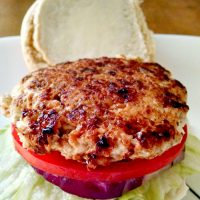 Chicken Apple Brat Burgers