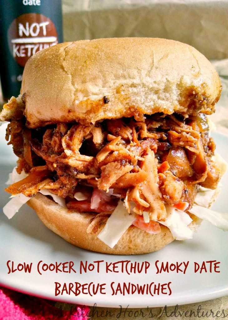 How can you not make barbecue with something that's smoky date? I think it was the smoky part that convinced me I needed to make Slow Cooker +Not Ketchup Smoky Date Barbecue Sandwiches.