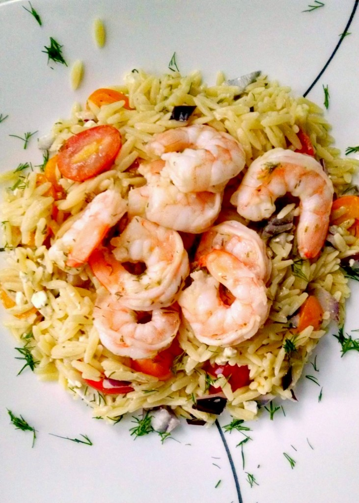 I love the combination of lemon and dill so I made this Lemon Dill Orzo Shrimp Salad. Using some left over orzo (or any other left over short pasta) this becomes an easy and delicious recipe for any night of the week.