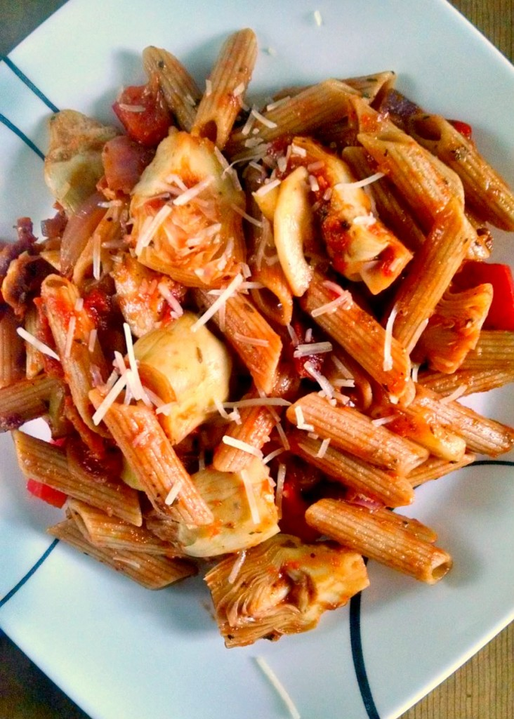 A Kitchen Hoor's Adventures | Tuscan Pasta Toss is delicious, hearty, healthy and can be easily whipped up for a delicious main or scrumptious lunch.