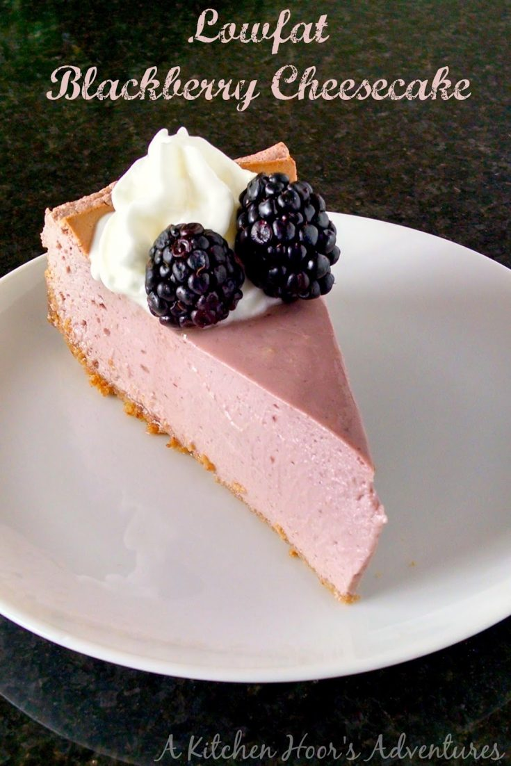 You'd be surprised at how rich and delicious this Lowfat Blackberry Cheesecake is. It has all the creamy texture of a New York style cheesecake, but with a hint of tangy blackberry flavor and almost none of the fat.