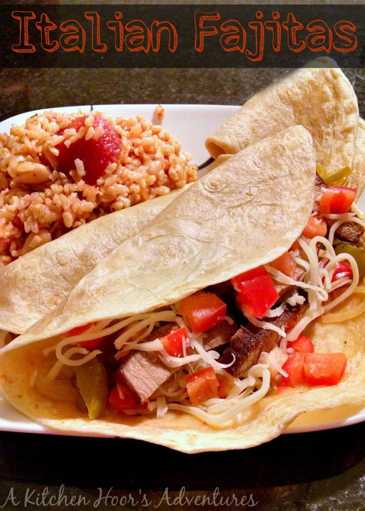 A mash-up of Italian flavors with southwest serving, these Italian Beef Fajitas are not only tasty and different, but they're quick and fun! Perfect for your busiest of weeknights.