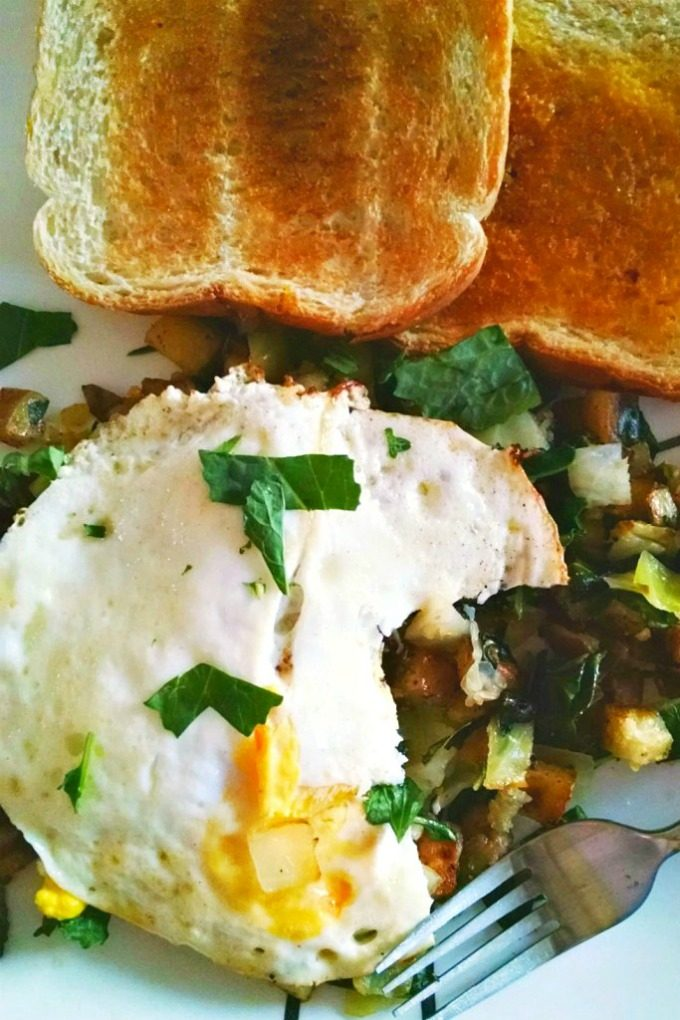 Colcannon Hash with Fried Eggs