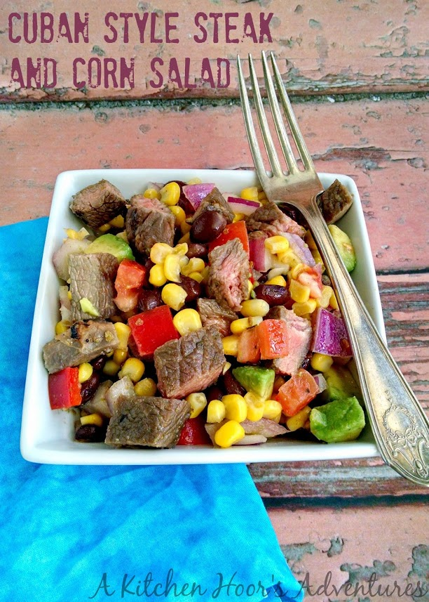 Cuban Style Steak and Corn Salad
