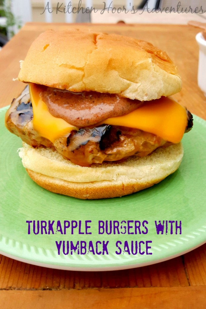 Turkapple Burgers with Not Ketchup Yumback Sauce - ground turkey burgers with apples, onions, and jalapenos topped with a delicious yumback sauce made with Blueberry White Pepper @NotKetchup.