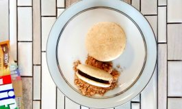 Peanut Butter and Chocolate Macaron