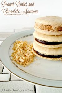 Peanut Butter and Chocolate Macaron #StartWithJifPowder