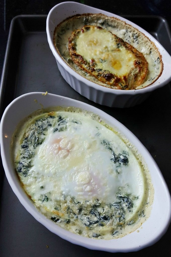 Spinach Baked Eggs