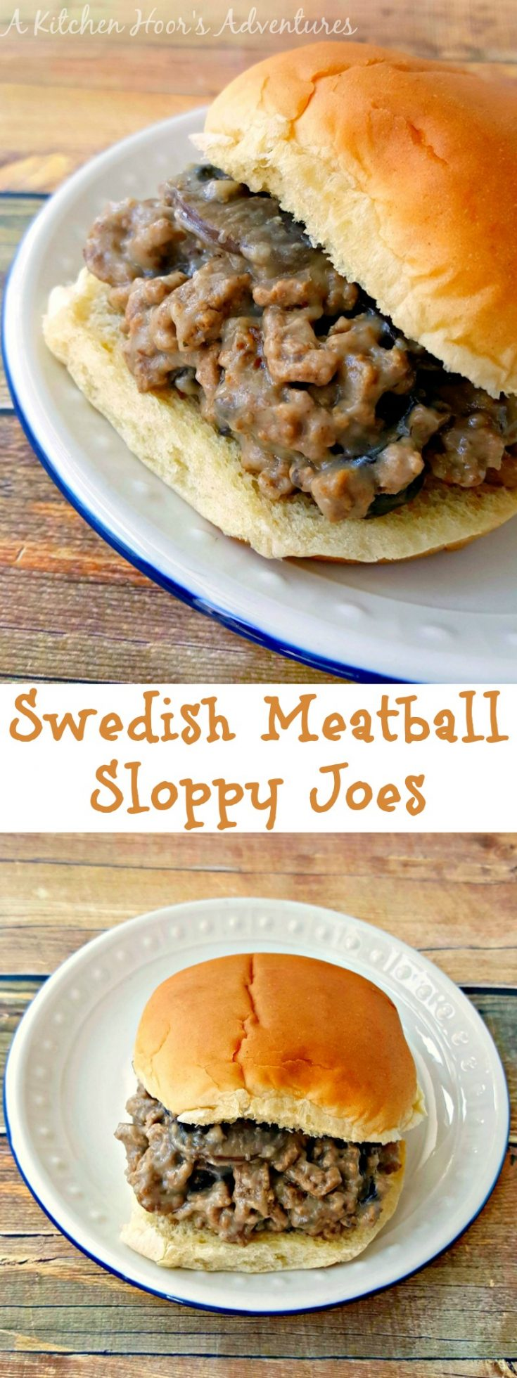 I deconstructed our favorite Swedish meatball recipe and turned them into delicious Swedish Meatball Sloppy Joes.