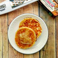 Chipotle Cheddar Crumpets with Candied Vidalia Onions