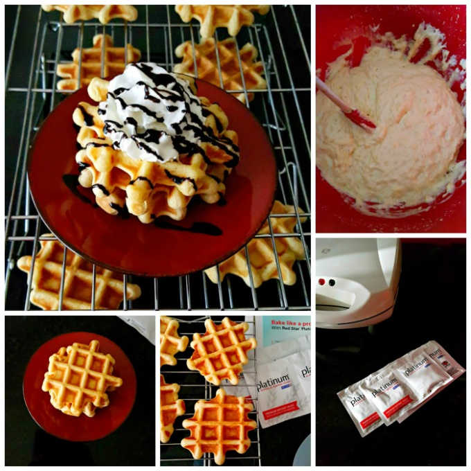 These Same Day Mock Liege Waffles are unlike any I've ever tasted. They're crispy on the outside, tender on the inside, and perfect for any number of toppings for your #BrunchWeek.