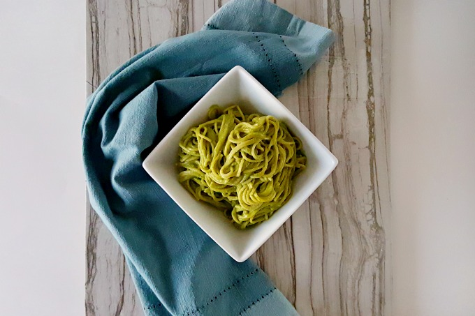 With all the flavors of pesto, this creamy, delicious, and super quick Pesto Carbonara is perfect for any night of the week.