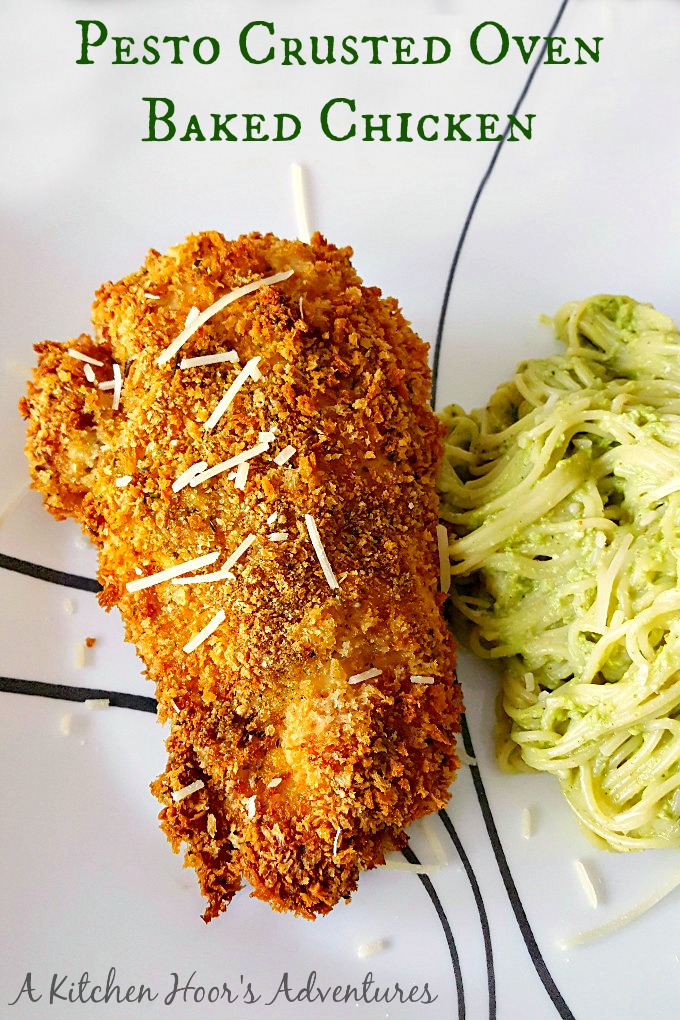 I'm addicted to my oven fried chicken! Especially when it has delicious pesto flavor. My Pesto Crusted Oven Fried Chicken is your next family favorite fried chicken.
