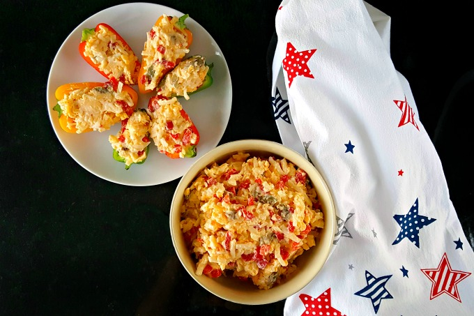 A southern classic, Nana's Pimento Cheese has one surprise ingredient, but I've added another one to make this spread even more tasty. @AKitchenHoor #SundaySupper