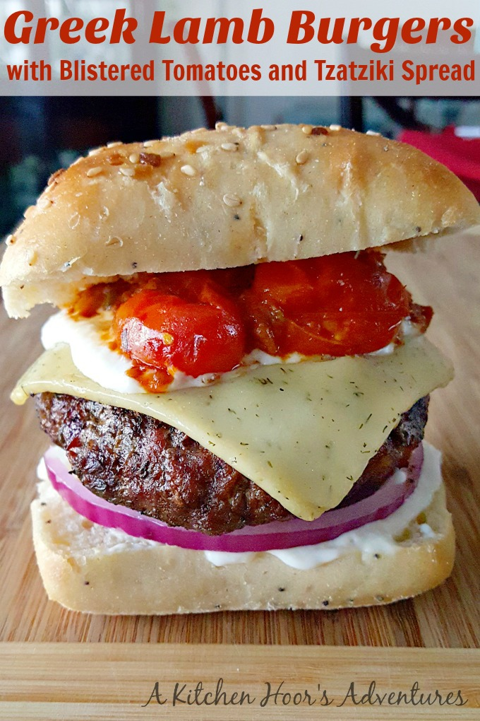 Packed with Greek flavors, these Greek Lamb Burgers with Blistered ...