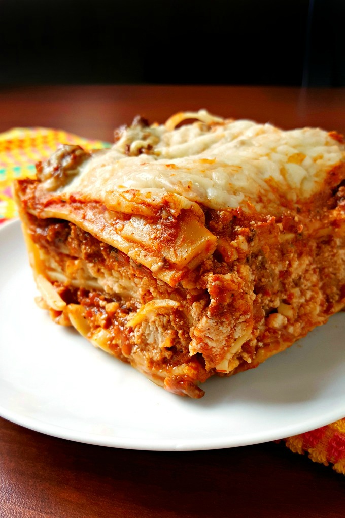 And what did we have for our Sunday suppers you ask? If I had my choice, it was always lasagna. ALWAYS lasagna. I mean, who doesn't love all those noodles, cheese, sauce, and meat in one delicious package?? I asked for it at every birthday or special meal. If we went out to an Italian restaurant, I usually ordered it (or alfredo). It's probably one of the first recipes I made when I was learning to cook. I know I have as often as I can. It's hands down one of my favorite foods to eat! So much so that I was nicknamed Garfield. I had stuffed Pookie and a stuffed Garfield. I watched the cartoon and all the specials every time they were on television. I even read the comic strip in the newspaper. I always agreed with Garfield that everything can be made better with lasagna. Who's with me on that one? No? Just me? Moving on…