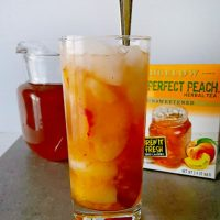 Muddled Peach Tea #TeaProudly