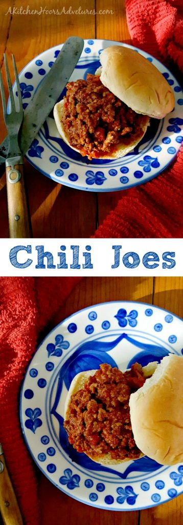 Sloppy joes are so versatile, easy, and the essential skillet meal. This Chili Joes recipe brings the delicious flavor of a pot of chili to the bun. #SundaySupper