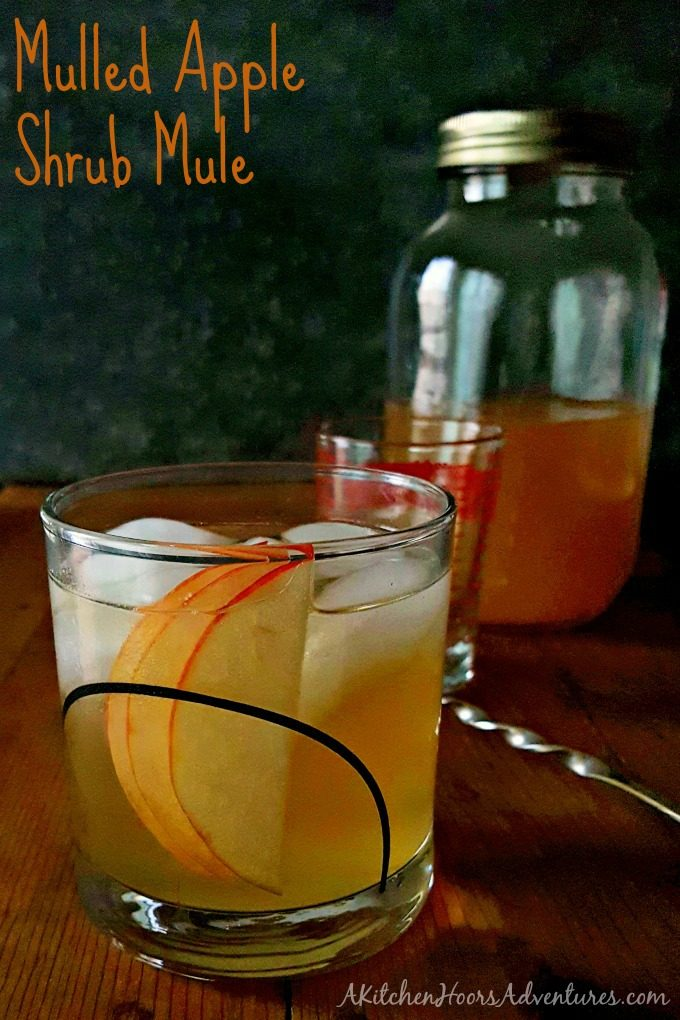 Mulled Apple Shrub Mule reminds me of crisp fall morning, warm afternoons, and cooling nights. The shrub makes this mule crisp and delicious with a ginger bourbon kick.